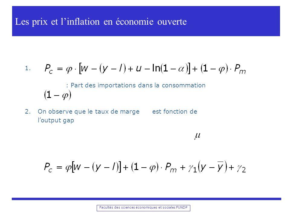 Les prix et l'inflation en économie ouverte