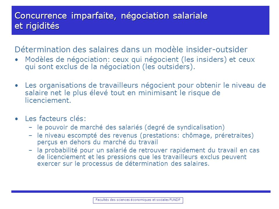Concurrence imparfaite, négociation salariale et rigidités