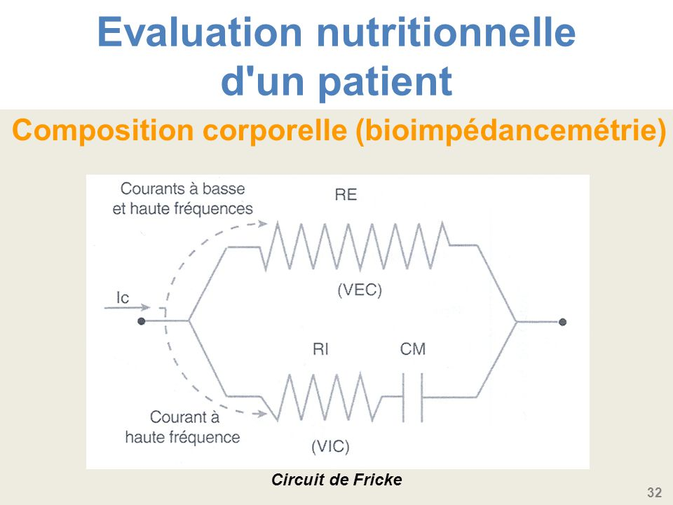 Evaluation nutritionnelle d un patient