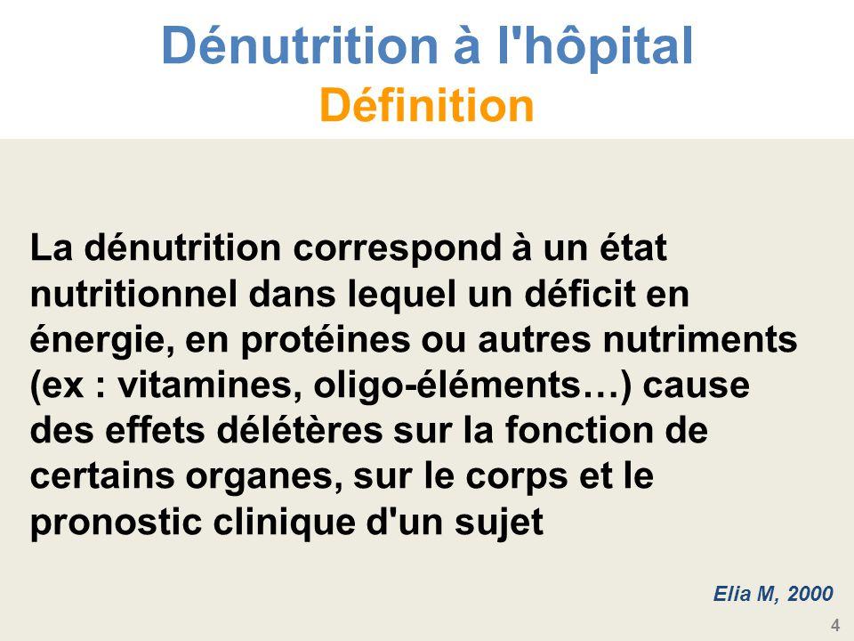 Dénutrition à l hôpital Définition