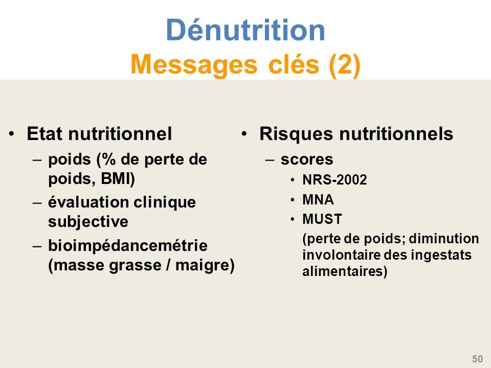 Dénutrition Messages clés (2)