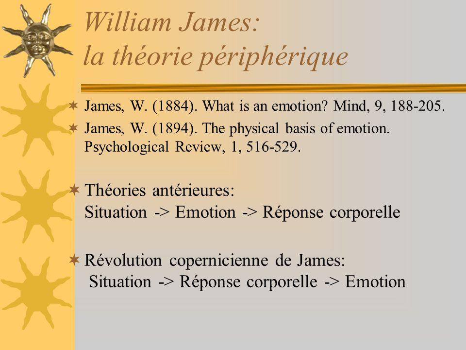 William James: la théorie périphérique