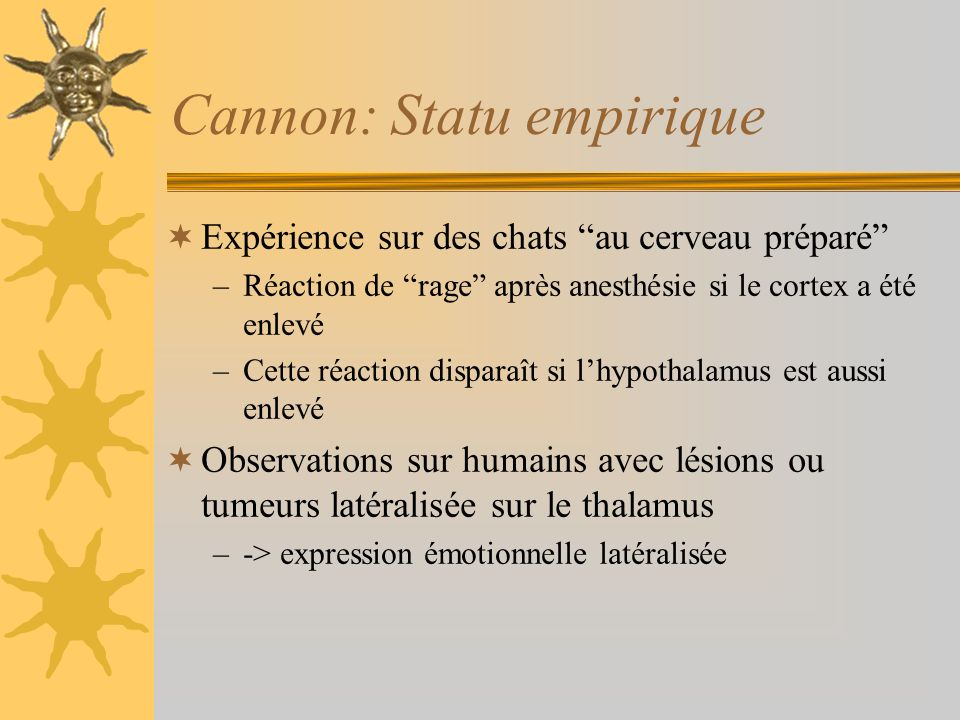 Cannon: Statu empirique