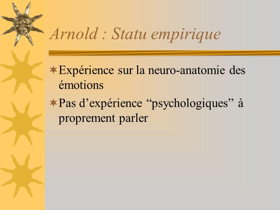 Arnold : Statu empirique