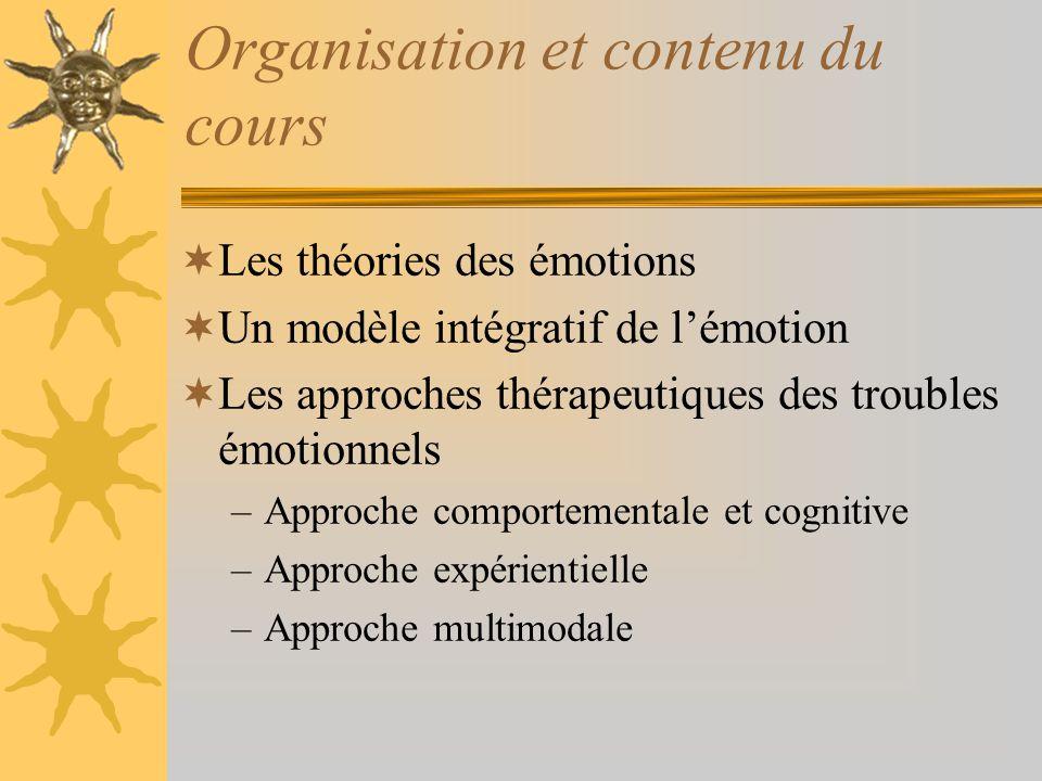 Organisation et contenu du cours