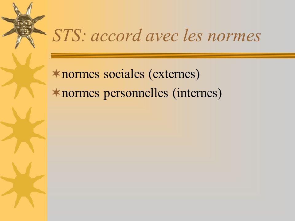 STS: accord avec les normes