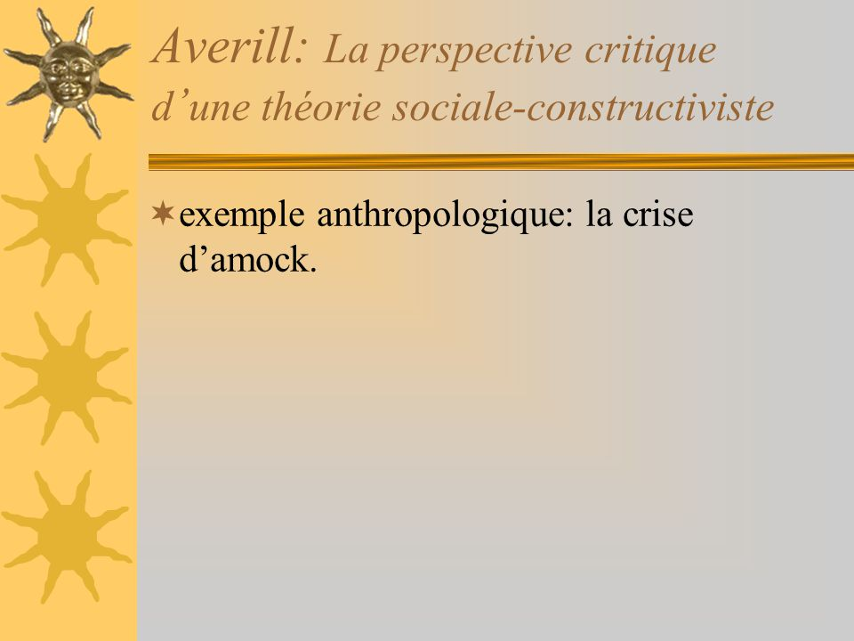 Averill: La perspective critique d'une théorie sociale-constructiviste