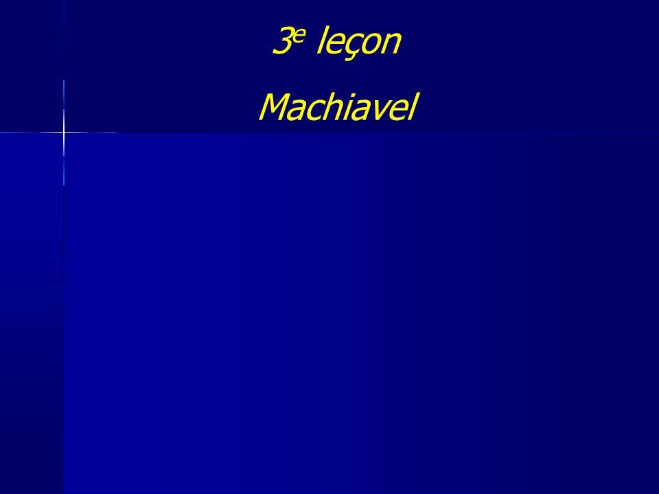 3e leçon Machiavel 1
