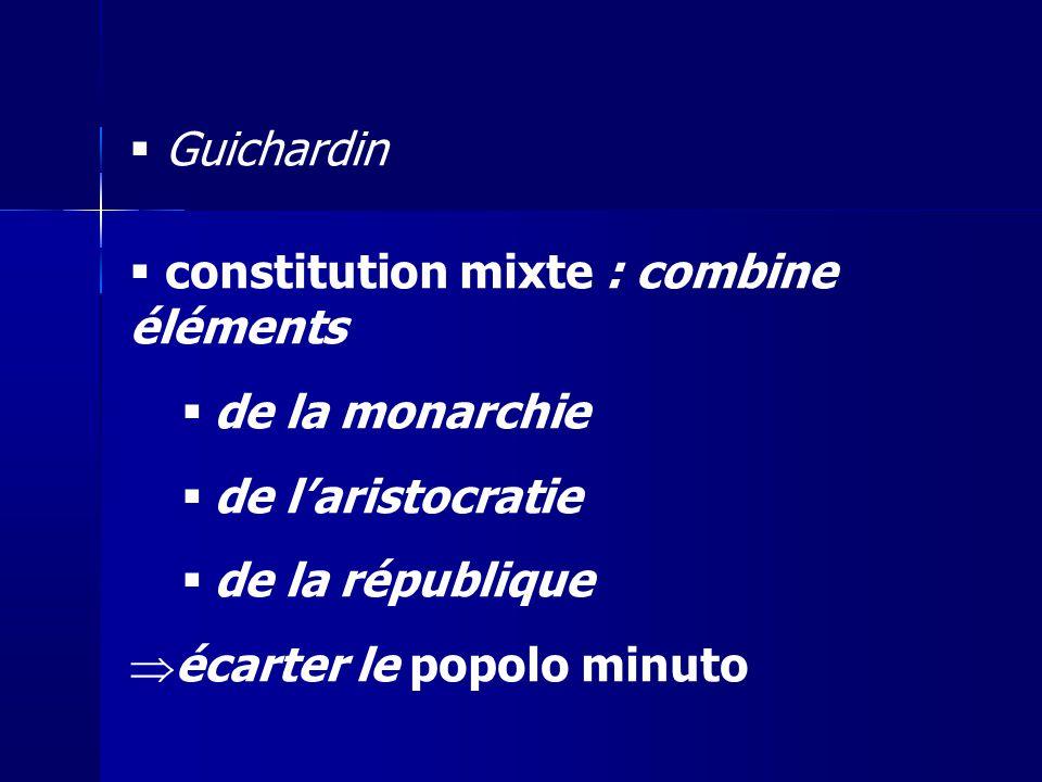 constitution mixte : combine éléments