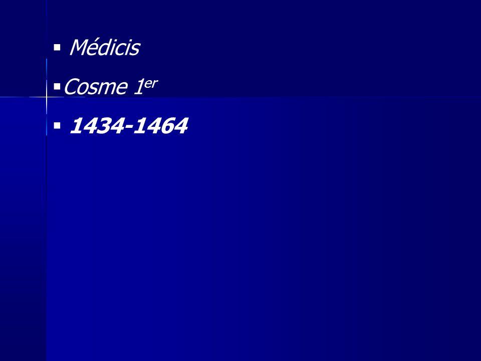 Médicis Cosme 1er 1434-1464 19