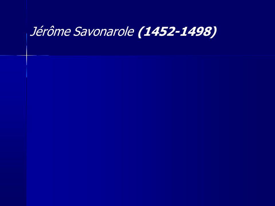 Jérôme Savonarole (1452-1498) 21
