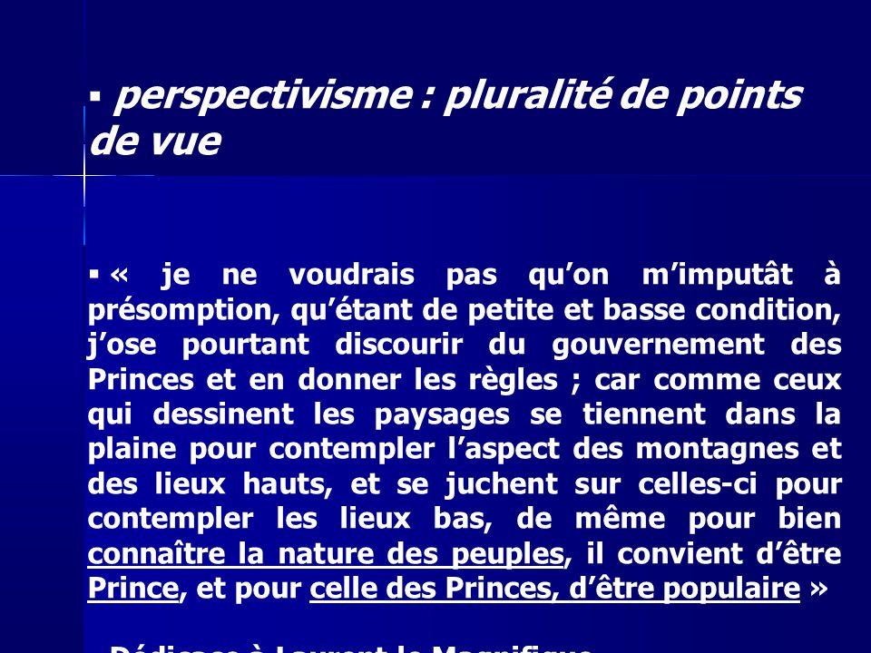 perspectivisme : pluralité de points de vue