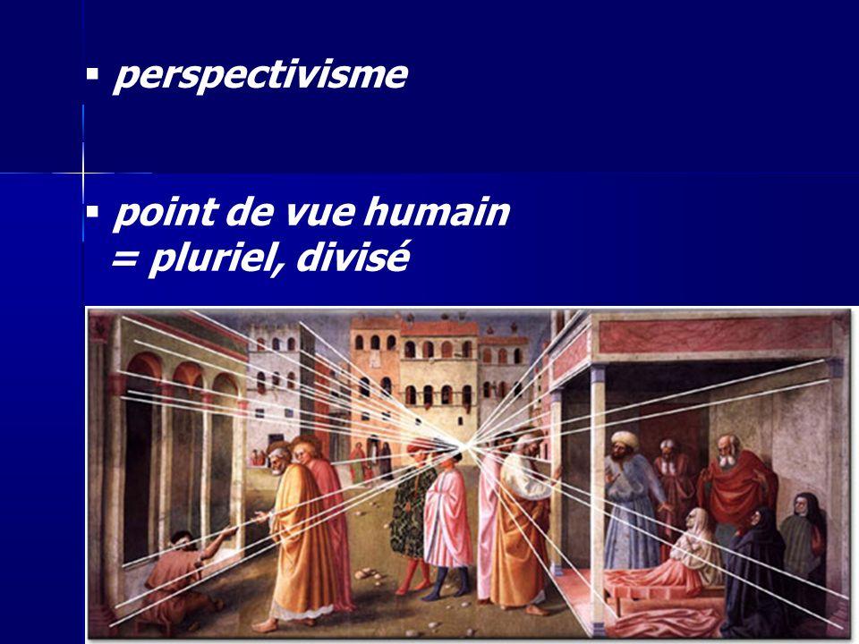 perspectivisme point de vue humain = pluriel, divisé 36