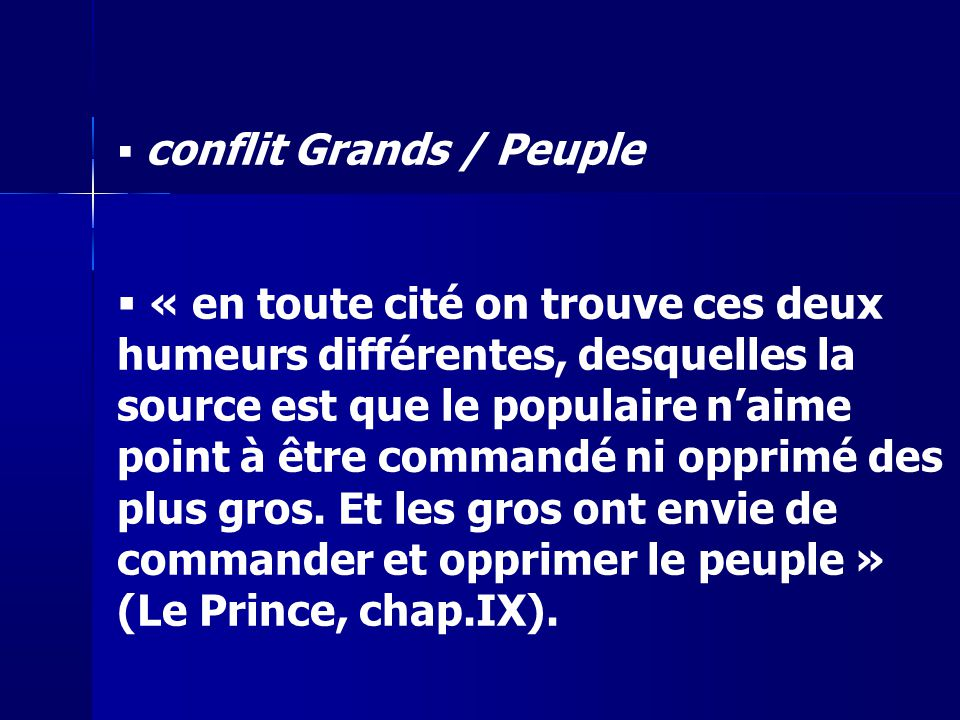 conflit Grands / Peuple