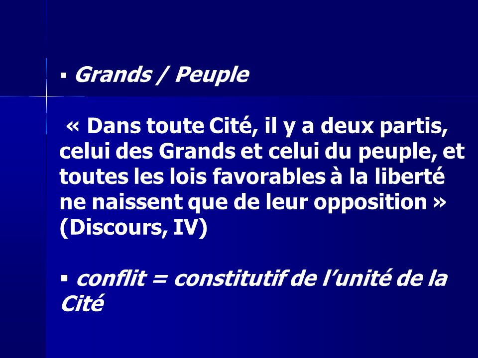 conflit = constitutif de l'unité de la Cité