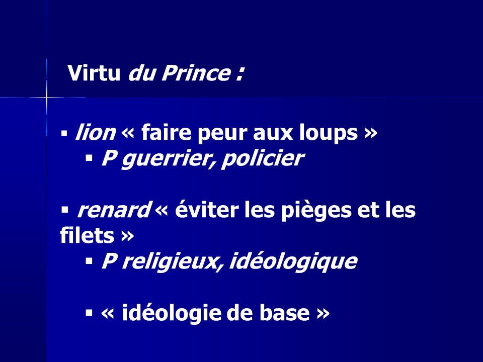 renard « éviter les pièges et les filets » P religieux, idéologique