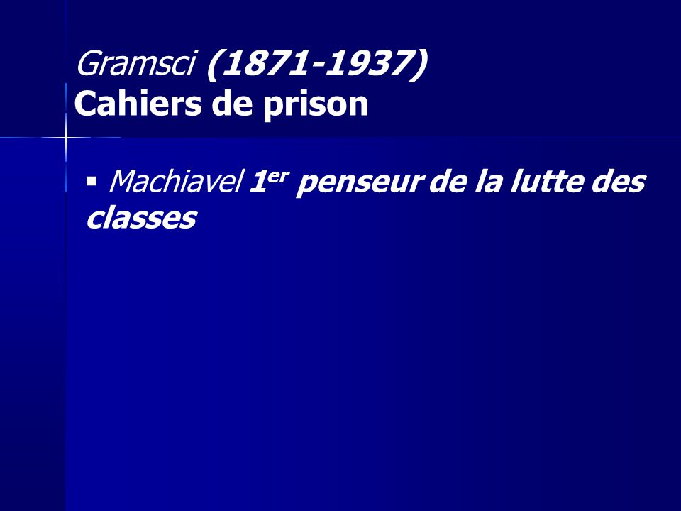 Gramsci (1871-1937) Cahiers de prison