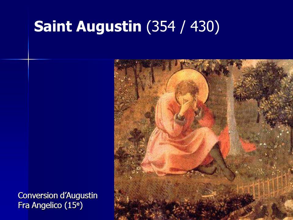 Saint Augustin (354 / 430) Conversion d'Augustin Fra Angelico (15e)