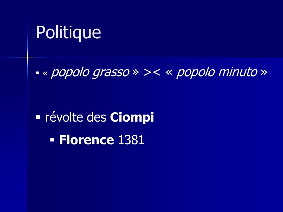 Politique révolte des Ciompi Florence 1381