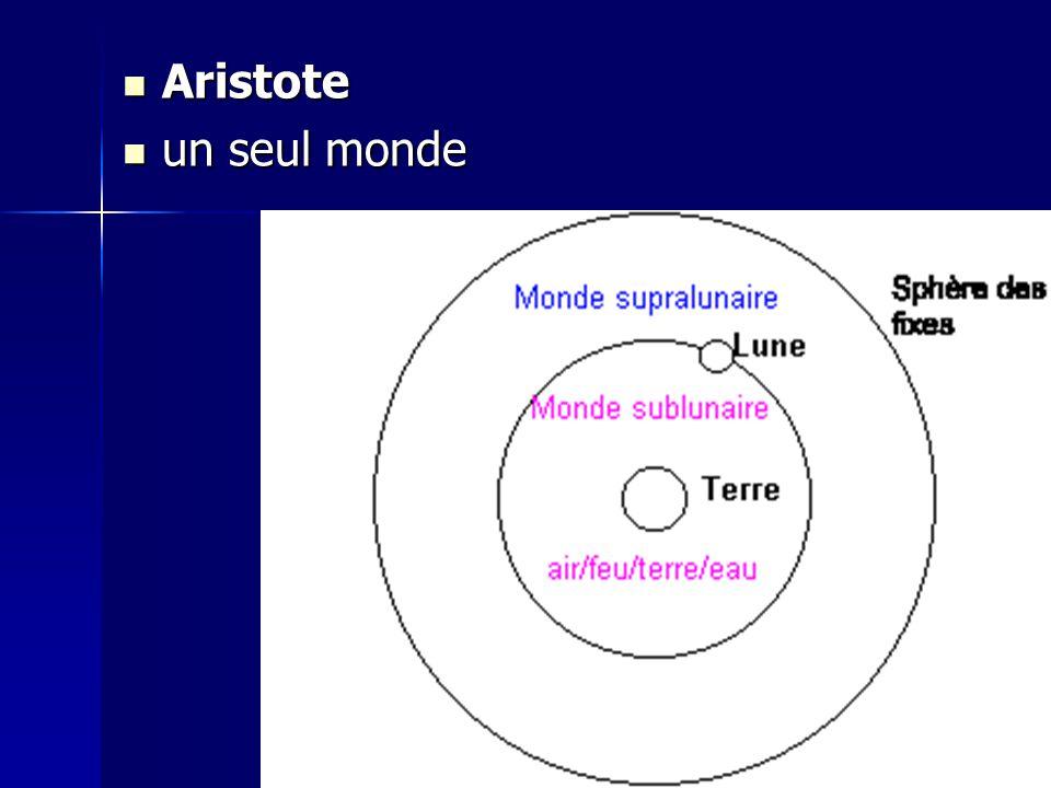 Aristote un seul monde