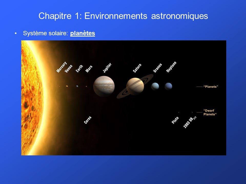 Chapitre 1: Environnements astronomiques
