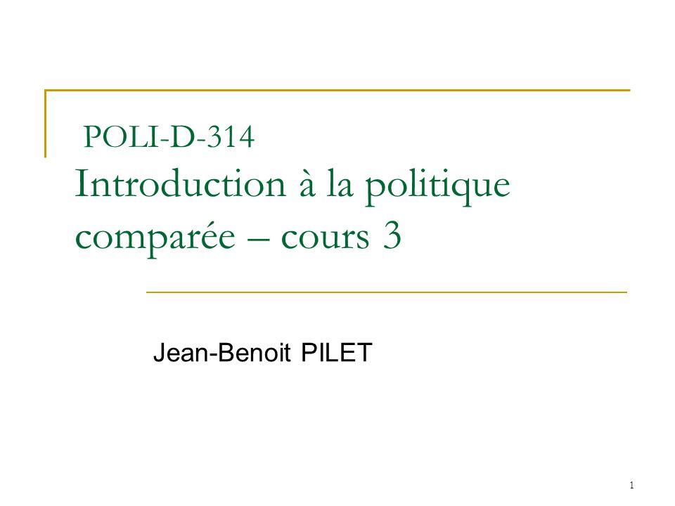 POLI-D-314 Introduction à la politique comparée – cours 3