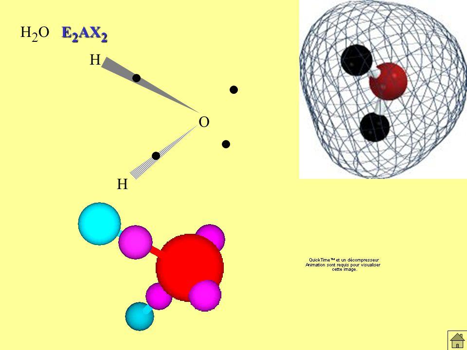 Molécules H2O H2O E2AX2 O H