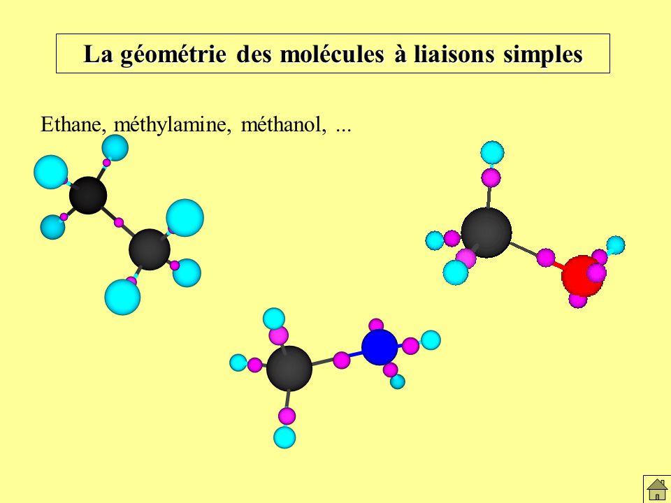 Éthane, méthylamine, méthanol,
