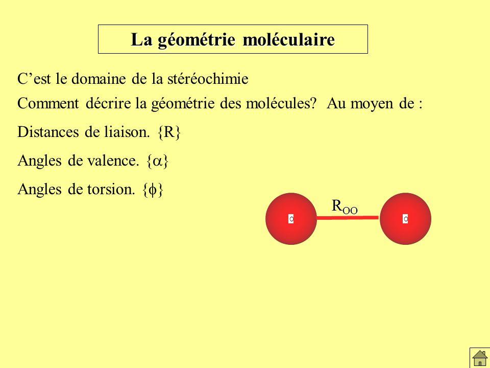 La géométrie moléculaire