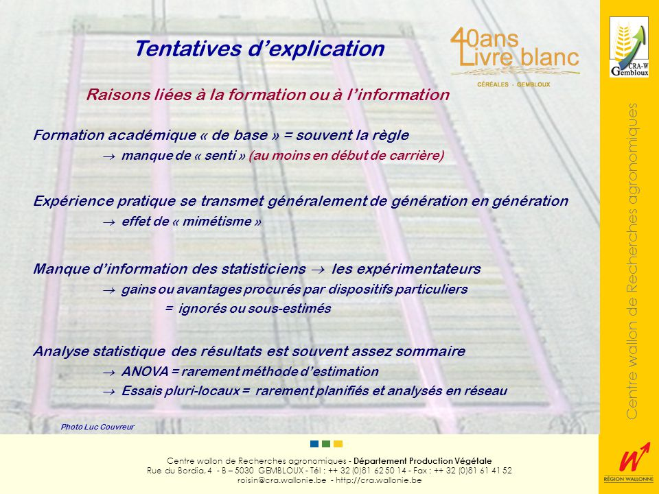 Tentatives d'explication