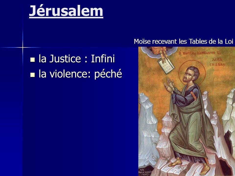 Jérusalem la Justice : Infini la violence: péché