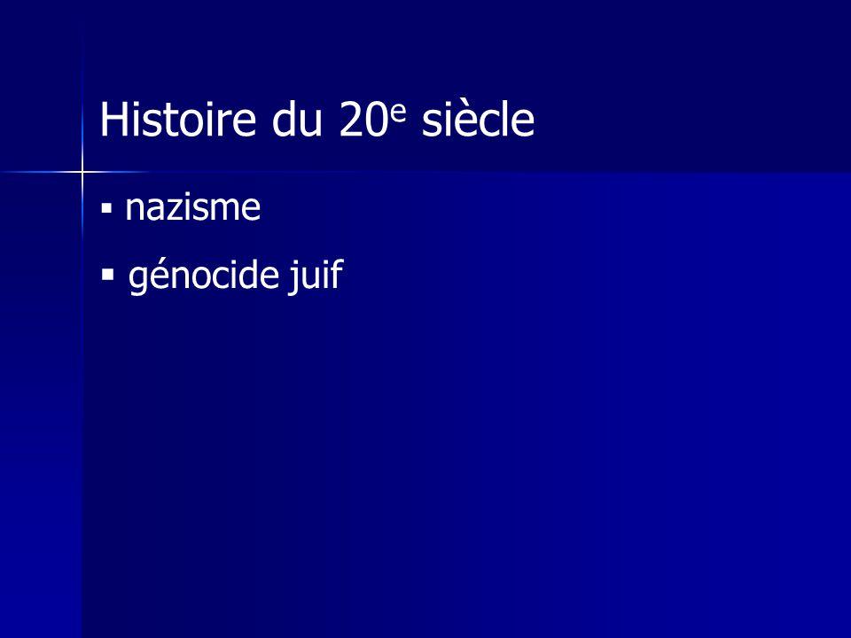Histoire du 20e siècle nazisme génocide juif