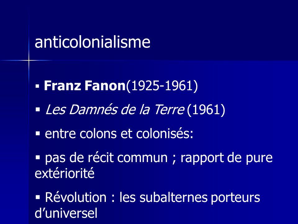 anticolonialisme Les Damnés de la Terre (1961)