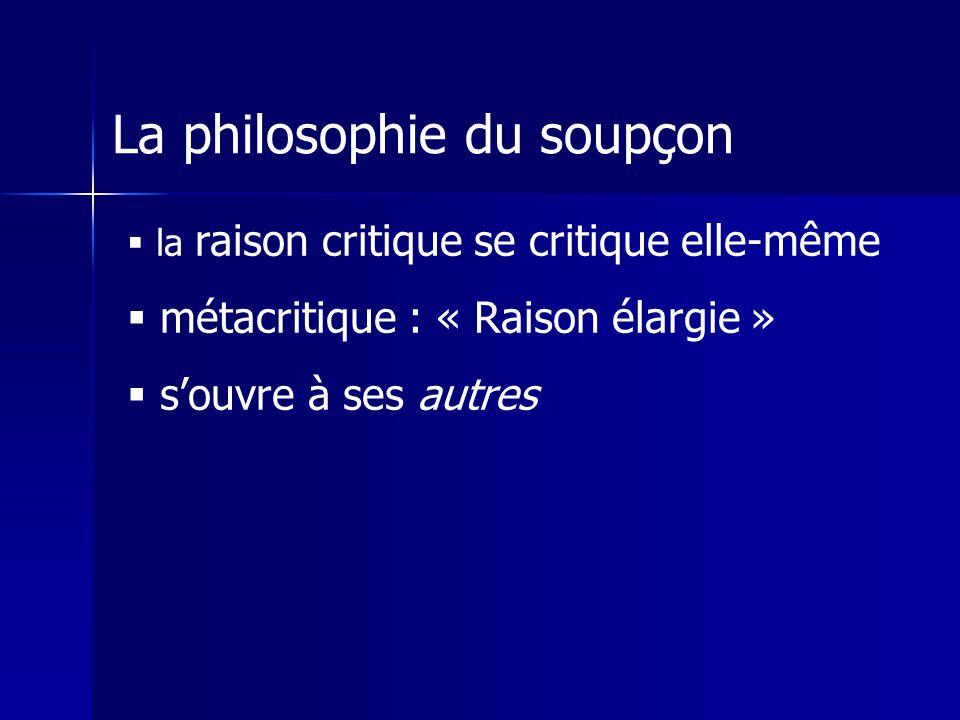 La philosophie du soupçon