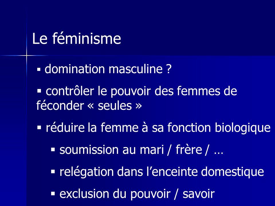 Le féminisme contrôler le pouvoir des femmes de féconder « seules »