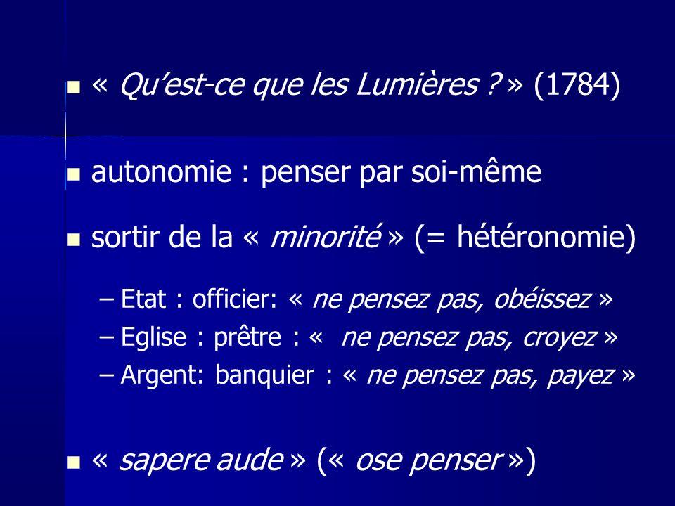 « Qu'est-ce que les Lumières » (1784)