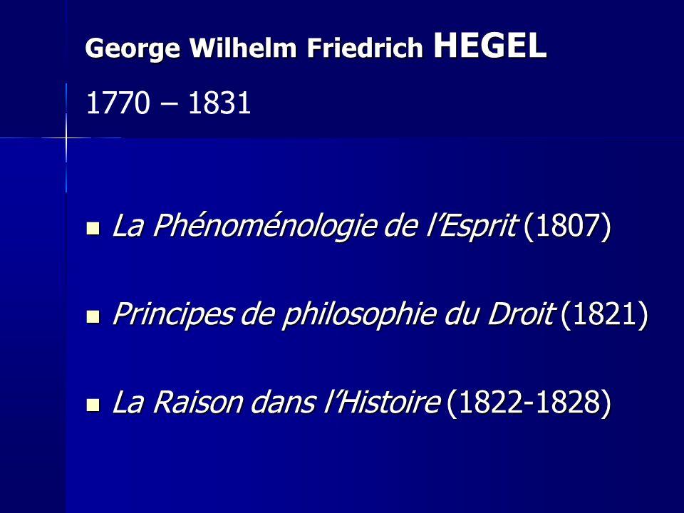 La Phénoménologie de l'Esprit (1807)