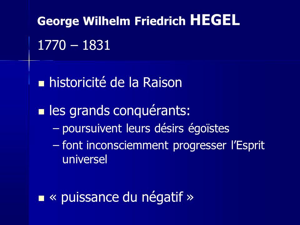 historicité de la Raison les grands conquérants: