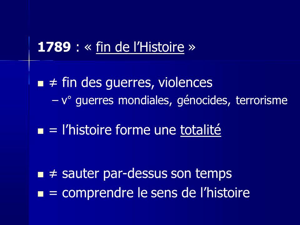 ≠ fin des guerres, violences