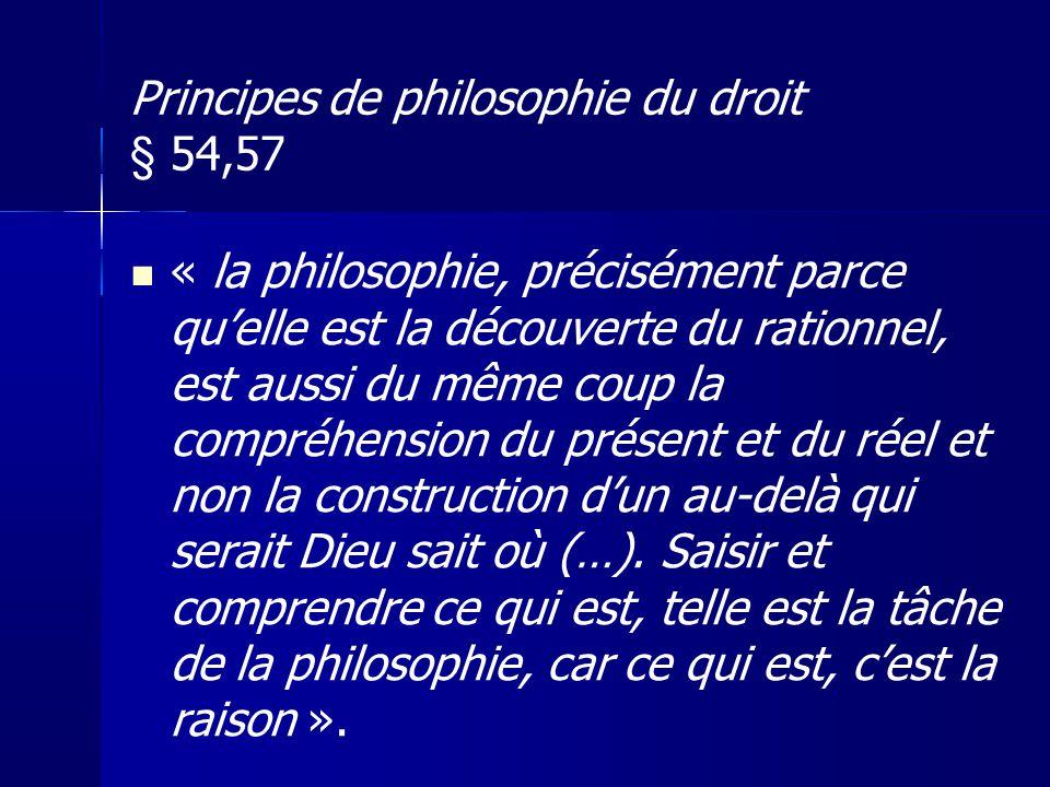 Principes de philosophie du droit § 54,57