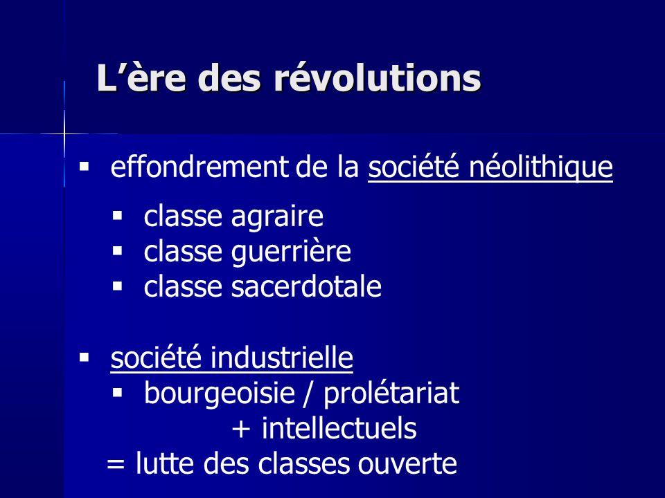 L'ère des révolutions effondrement de la société néolithique