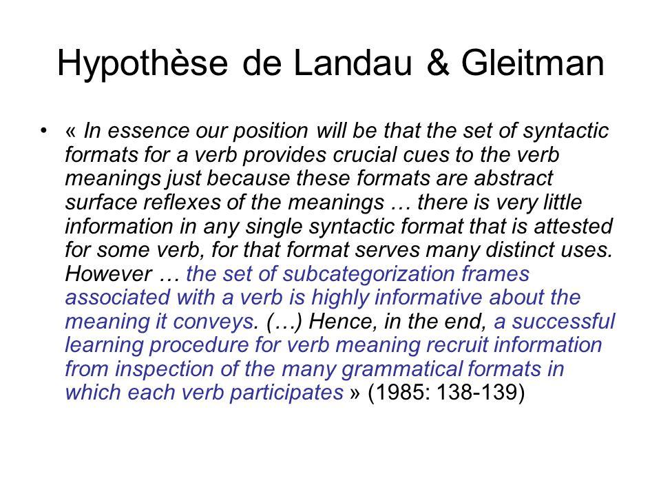 Hypothèse de Landau & Gleitman