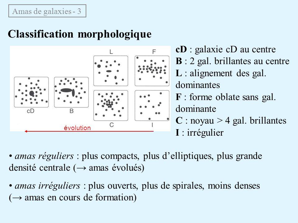Classification morphologique