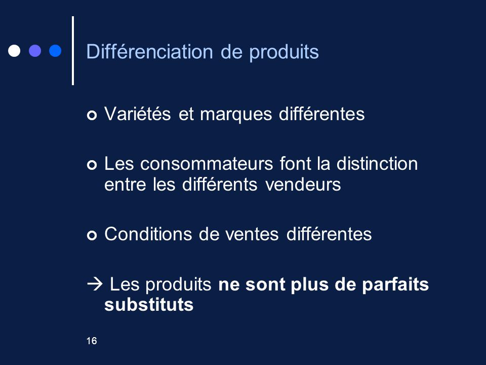 Différenciation de produits