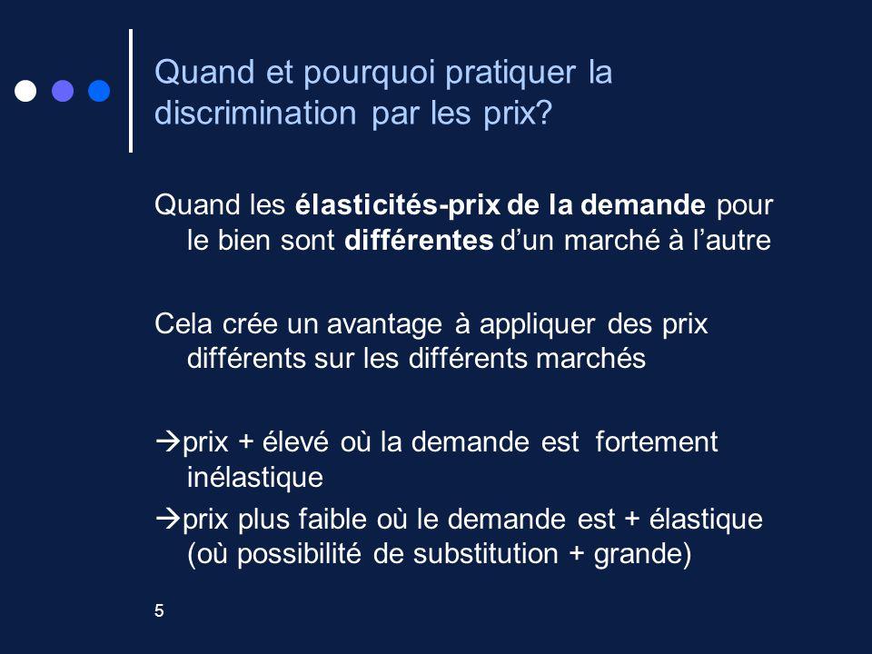 Quand et pourquoi pratiquer la discrimination par les prix