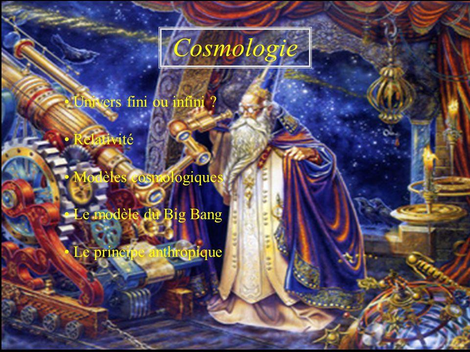 Cosmologie • Univers fini ou infini • Relativité
