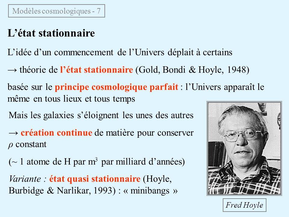 Modèles cosmologiques - 7
