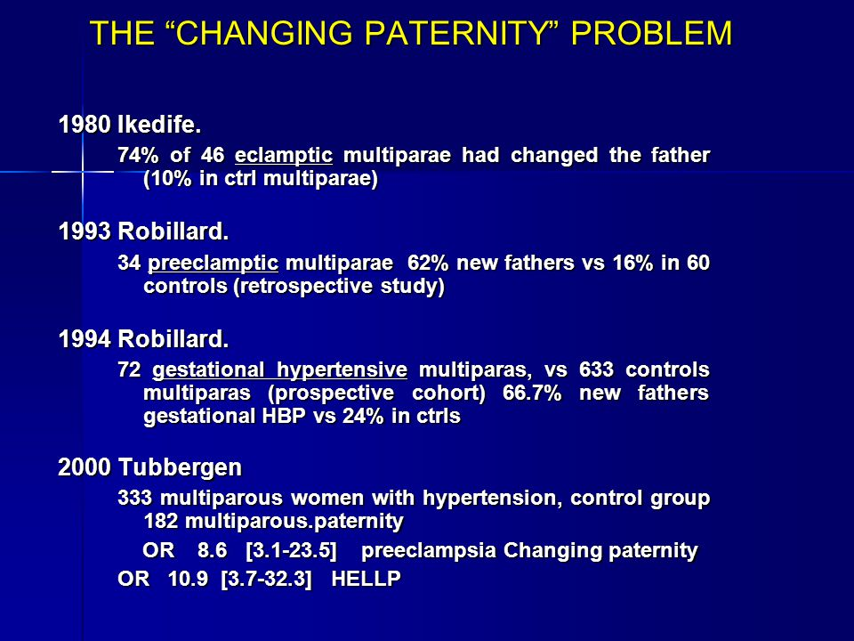 THE CHANGING PATERNITY PROBLEM