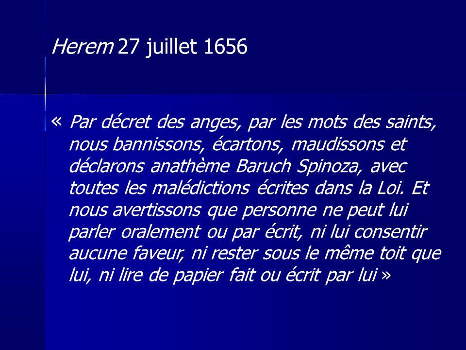 Herem 27 juillet 1656