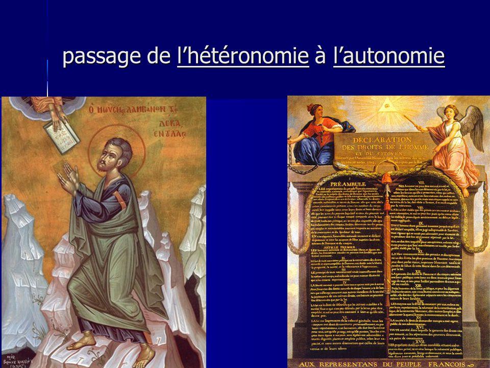 passage de l'hétéronomie à l'autonomie